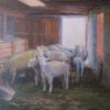 "The Flock in the Barn Oil, 11"" x 14"""