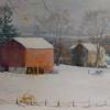 "Snow in the Valley Oil, 18"" x 24"""