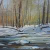 "Winter in the Woods Oil, 24"" x 30"""