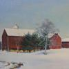 "Red Barn Oil, 12"" x 24"""