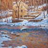 "Tohickon in Winter - Point Pleasant Oil, 10"" x 8"""