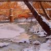 "Bridge at Point Pleasant, Tohickon Oil, 24"" x 36"""