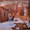 "Carversville Creek in Winter Oil, 16"" x 20"""