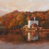 "Lambertville View of the Playhouse Oil, 24"" x 24"""