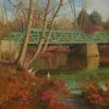 "Green Bridge Oil, 16"" x 20"""