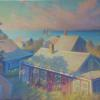"""Nantucket Rooftops, Codfish Park, Sconset"" Oil, 24"" x 36"""