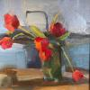"Kitchen Tulips Oil, 10"" x 10"""
