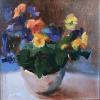 "Riot of Pansies Oil, 6"" x 6"""