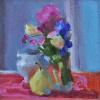 "Pitcher, Pear and Posies Oil, 6"" x 6"""