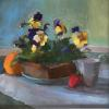 "Pansies with Pitcher Oil, 10.5"" x 10.5"""