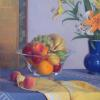"Fruit with Yellow & Blue Oil, 28"" x 20"" ...SOLD"