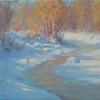 "Freezing Stream 10"" x 12"" oil"